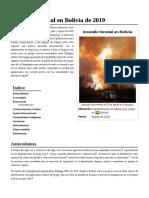 Incendio Forestal en Bolivia de 2019