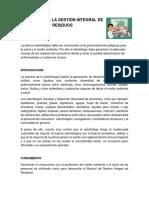 Manual Para La Gestion Integral de Residuos