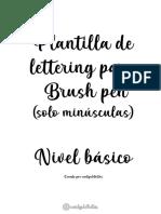Lettering minúsculas by carlysletritas (1° Versión)