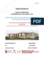 Project Role of Operatrion