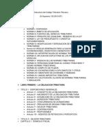 Estructura Del Codigo Tributario Peruano