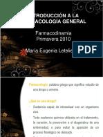Introduccion a La Farmacologia General Primavera 2010