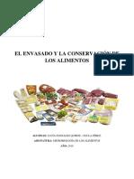 El Envasado y La Conservación de Los Alimentos