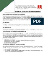 Concepto Proceso de Costos i - Ufps