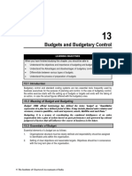 Chapter 13 Budgets and Budgetary Control