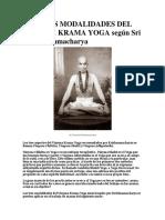 Las Tres Modalidades Del Vinyasa Krama Yoga Según Sri t