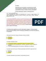 Lista de exercício processos de conformação