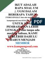 kampungsoal.com Free Soal Utul UGM Soshum 2008-2018.pdf