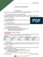 Cours - Informatique - CHAPITRE N°3 BASES DE DONNEES - Bac Economie & Gestion (2015-2016)