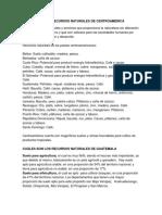 RECURSO NATURALES DE CENTROAMÉRICA