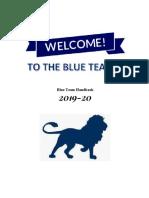 blue team 2019-20 handbook
