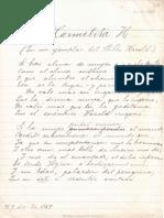 A Carmelita - Manuscrito
