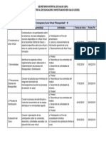 cronograma curso bioseguridad sec de salud