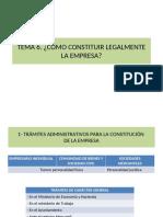 TEMA 13. ¿Cómo Constituir Legalmente La Empresa