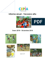 Informe Anual 2018 CEPIA