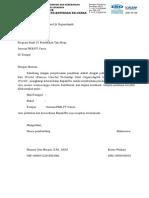 Surat Uji Organoleptik