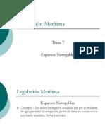 Legislación Marítima-7 Espacios Navegables -8 Der. Marítimo.curso UNI 6