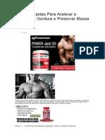 4 Dicas Rápidas Para Acelerar a Queima de Gordura e Preservar Massa Muscular