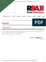 Rede Brasil Atual - análises sobre junho de 2013.