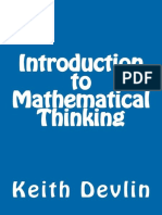 Introduction to Mathematical Thinking Devlin Keith