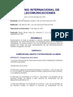 Convenio internacional de telecomunicaciones