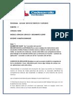 Talleres de Entrenamiento # 1 Mod. Atencio Servicio 2p-2019