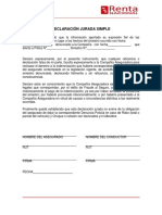 Declaración Jurada Simple Al 17-07-2019