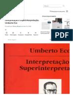 Interpretação e Superinterpretação. Umb...nterpretação Linguística | Pragmatismo.pdf