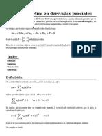 Ecuación Elíptica en Derivadas Parciales