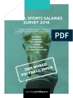 Global Sports Salaries Survey Produced Annually 2018