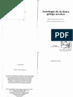 Suárez de La Torre,  Antologia Lirica Griega Arcaica