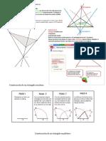 Líneas y Puntos Notables en Un Triángulo