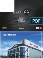Ekol-Voltran Product Catalog 2018