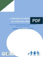 Libro I Jornada de Fisioterapia en Atención Primaria AEF-APySC-2018