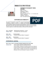 Curriculum Vitae - Tania Espinoza