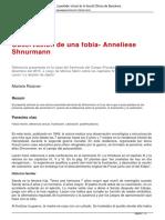 Observación de una fobia- Anneliese Shnurmann