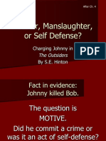 Murder, Manslaughter, Or Self Defense