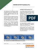 Reliability of the OSRAM OSTAR Headlamp Pro