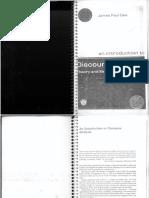 James Paul Gee Discourse Analysis