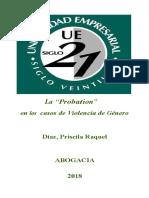 """La """"Probation""""Derecho"""