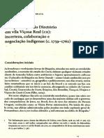 A Implantação de Diretório Em Vila Viçosa Real Ce. a Presença Indígena No Nordeste. Maia, Lígio de Oliveira.