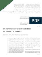 Hector Arita - De Ratones Hombres Y Elefantes El Tamaño Si Importa