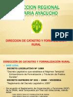 Dirección de catastro-Dirección Regional Agraria Ayacucho