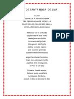 Himno, Historia de Santa Rosa de Lma