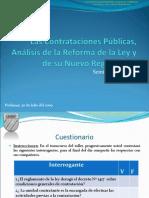 T. Contrataciones Publicas, Análisis de La Reforma y Reglamento (Nuevo)