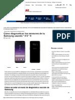 Código de Prueba de Samsung - Prueba de Sensor de Samsung - Códigos de Samsung