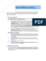 Guidelines for Determination of Level and Step on Recruitment to the Professional Category and Above