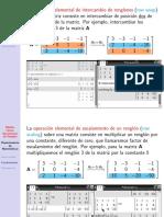 Algebra Lineal Operaciones de Renglon