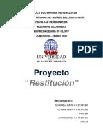 Proyecto Restitución