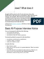 Who Interviews-LAW SCHOOL